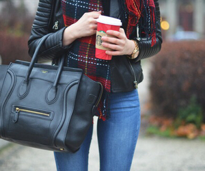 clothes, fall, and scarf image