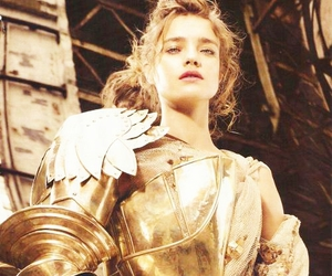 Natalia Vodianova, armor, and gold image