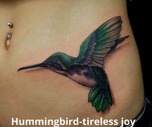 bird, hummingbird, and tattoo image