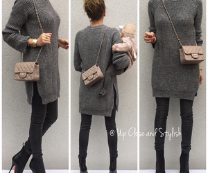 boots, sweater, and crossbody bag image
