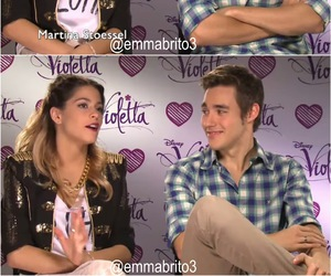 leon, violetta, and martina stoessel image