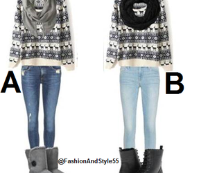 outfit, Polyvore, and sweater image
