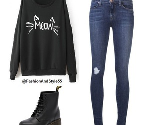 sweater, boots, and outfit image