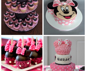 apple, cake, and minnie mouse image