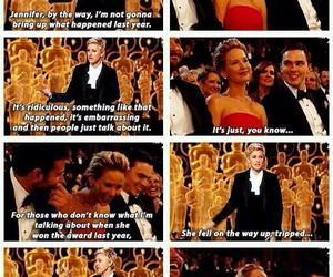 Jennifer Lawrence, oscar, and ellen image