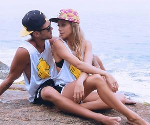 couple, sea, and sweet image