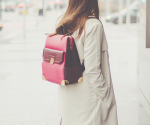 backpack, fashion, and street style image