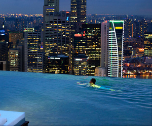 city, pool, and luxury image