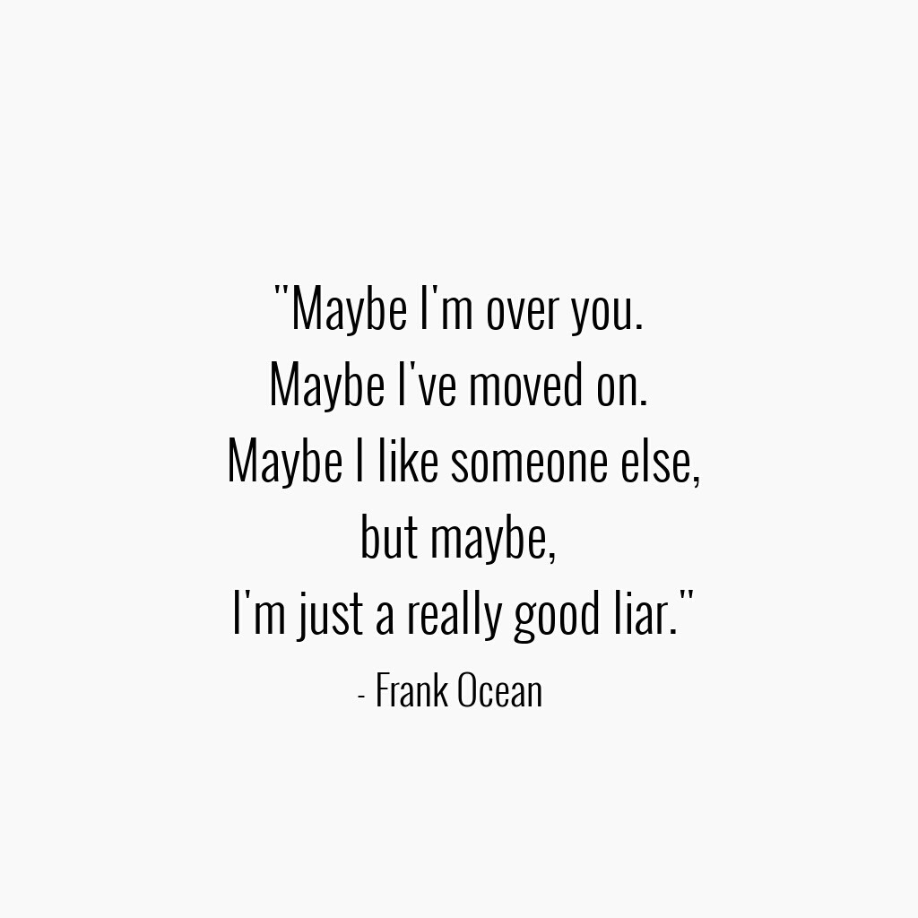 Frank Ocean Quotes. shared by P.MERLE on We Heart It