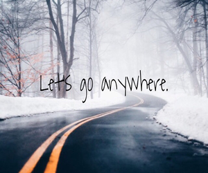 anywhere, road, and snow image