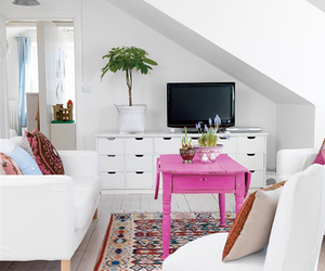 white, living room, and room image