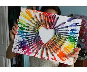 art, colorful, and heart image