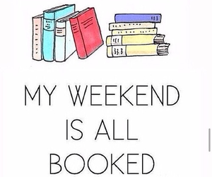 books, study, and weekend image