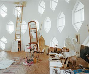 art, white, and paint image