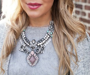 fashion, necklace, and hair image