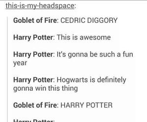 cedric diggory, fun, and goblet of fire image