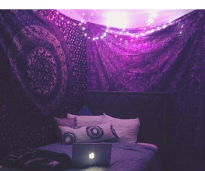 purple, bed, and decor image