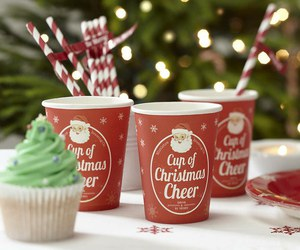 christmas, cup, and lights image