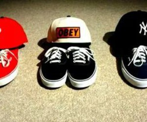 vans, obey, and swag image