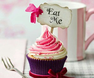 cupcake, eat me, and pink image