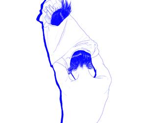 art, blue, and artwork image