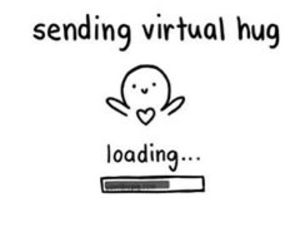hug, send, and virtual image