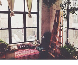 room, beautiful, and curtains image