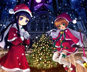 anime and merry christmas image