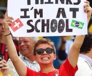 school, funny, and brazil image