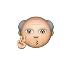 overlay, emoji, and grandpa image