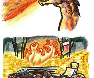 christmas, smaug, and the hobbit image