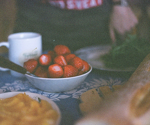 strawberry, photography, and vintage image
