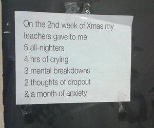 school, funny, and christmas image