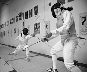 fencing, foil, and sport image