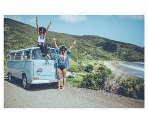 girl, hippie, and happy image