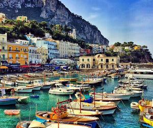 beautiful, boats, and capri image
