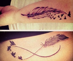 arm, birds, and black image