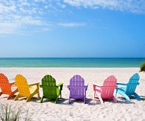 beach and happy image