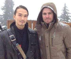 arrow, cw, and oliver queen image