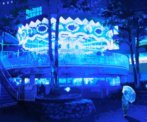 anime, blue, and beautiful image