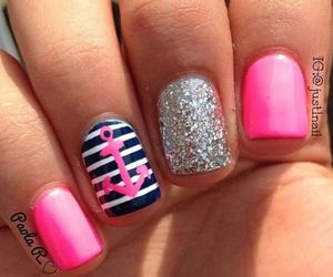 nails, pink, and cute image