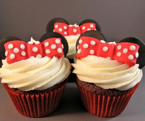 cupcake, food, and minnie image