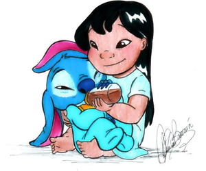stitch, lilo, and baby image