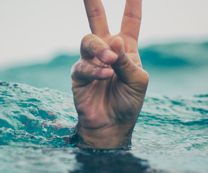peace, sea, and water image