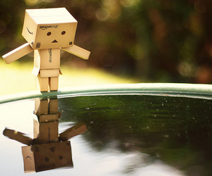 danbo, mirror, and water image