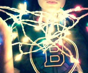 christmas lights and bruins image