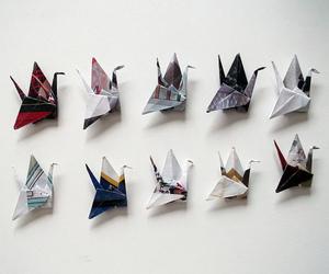 origami, art, and bird image