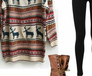 christmas, outfit, and reindeer image