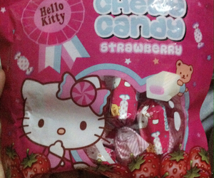 candies and hello kitty image
