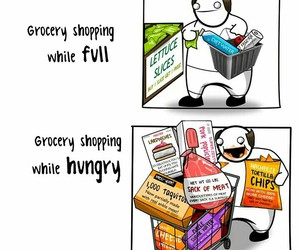 funny, food, and shopping image